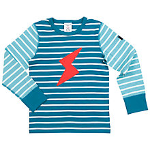 Buy Polarn O. Pyret Children's Striped T-Shirt, Blue Online at johnlewis.com