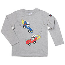 Buy Polarn O. Pyret Children's Racer Print Top, Grey Online at johnlewis.com
