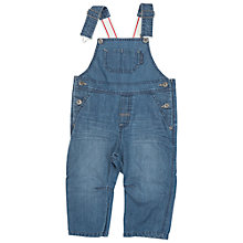 Buy Polarn O. Pyret Baby Denim Dungarees, Blue Online at johnlewis.com