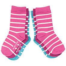 Buy Polarn O. Pyret Baby Stripe Socks, Pack of 3, Pink/Multi Online at johnlewis.com