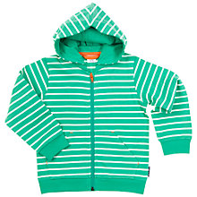 Buy Polarn O. Pyret Children's Stripe Hoodie, Green Online at johnlewis.com