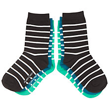 Buy Polarn O. Pyret Children's Stripe Socks, Pack of 3 Online at johnlewis.com