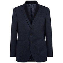 Buy Jaeger Basketweave Virgin Wool Blazer, Navy Online at johnlewis.com