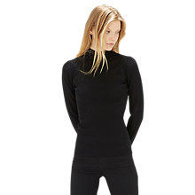 Buy Warehouse Pointelle Yolk Rib Jumper, Black Online at johnlewis.com