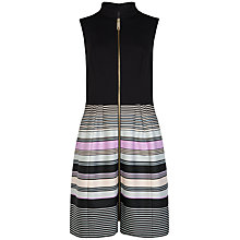 Buy Ted Baker Palmah Stripe Zip Dress, Light Grey Online at johnlewis.com
