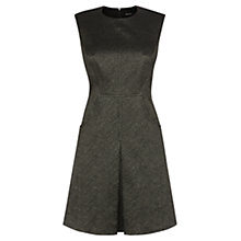 Buy Karen Millen Metallic Texture Dress, Bronze Online at johnlewis.com