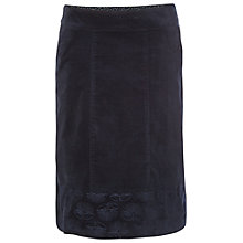 Buy White Stuff Lindy Knee Skirt, Navy Online at johnlewis.com
