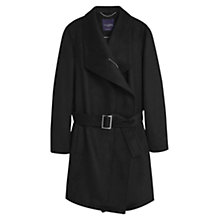 Buy Violeta by Mango Belted Coat, Black Online at johnlewis.com
