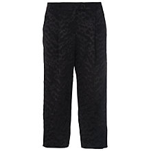 Buy French Connection Aria Jacquard Culottes, Black Online at johnlewis.com