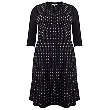 Buy Studio 8 Textured Milly Dress, Black Online at johnlewis.com