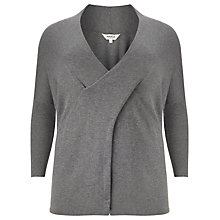 Buy Studio 8 Daphne Wrap Jumper, Grey Marl Online at johnlewis.com