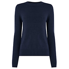 Buy Oasis The Perfect Crew Neck Jumper, Navy Online at johnlewis.com