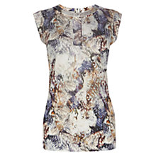 Buy Karen Millen Fur Print Jersey Top, Multi Online at johnlewis.com