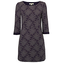 Buy White Stuff Leafy Branch Jersey Tunic Dress, Marine Purple Online at johnlewis.com
