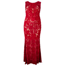 Buy Studio 8 Henrietta Tapework Maxi Dress, Raspberry Online at johnlewis.com