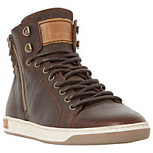 Buy Dune Samwell Side Zip Leather Trainers Online at johnlewis.com