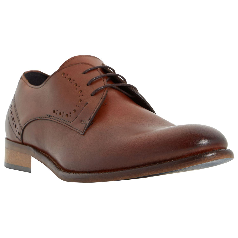 Bertie Bertie Ramiro Leather Derby Shoes, Tan