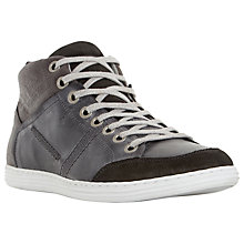 Buy Dune Sacramento Leather Hi-Top Trainers Online at johnlewis.com