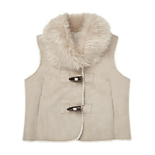 Buy Jigsaw Girls' Faux Sheepskin Gilet, Grey Online at johnlewis.com