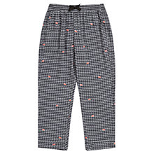 Buy Jigsaw Junior Girls' Snail Print Slouchy Trousers, Black Online at johnlewis.com