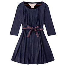 Buy Jigsaw Girls' Sparkle Jersey Dress, Navy Online at johnlewis.com