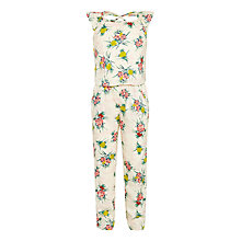 Buy John Lewis Girls' Tropical Print Jumpsuit, Multi Online at johnlewis.com
