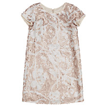 Buy Jigsaw Girls' Sparkle Sequin Shift Dress, Ivory Online at johnlewis.com