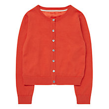 Buy Jigsaw Girls' Contrast Back Cardigan, Orange Online at johnlewis.com