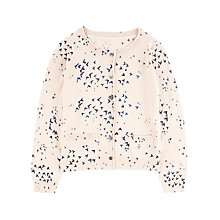 Buy Jigsaw Junior Girls' Swallow Print Cardigan, Oatmeal Online at johnlewis.com