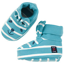 Buy Polarn O. Pyret Baby Stripe Slippers, Blue Online at johnlewis.com