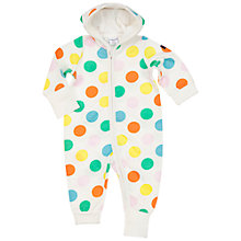 Buy Polarn O. Pyret Baby Spot Pramsuit, White Online at johnlewis.com