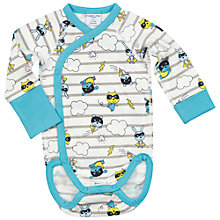 Buy Polarn O. Pyret Baby Hero Print Bodysuit Online at johnlewis.com
