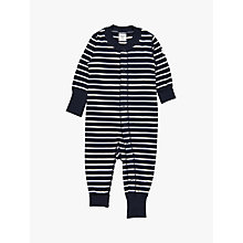 Buy Polarn O. Pyret Baby Stripe Sleepsuit Online at johnlewis.com