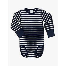 Buy Polarn O. Pyret Baby Stripe Long Sleeve Bodysuit Online at johnlewis.com
