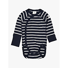 Buy Polarn O. Pyret Baby Stripe Wraparound Bodysuit Online at johnlewis.com