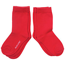 Buy Polarn O. Pyret Children's Plain Socks, Pack of 3 Online at johnlewis.com