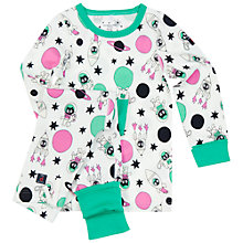 Buy Polarn O. Pyret Baby Pyjamas, White Online at johnlewis.com