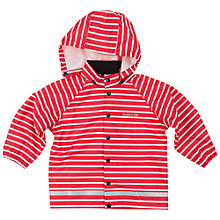 Buy Polarn O. Pyret Children's Stripe Raincoat, Red Online at johnlewis.com