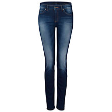 Buy Oui Sienna Slim Jeans, Raw Denim Online at johnlewis.com