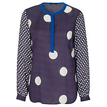 Buy Oui Spot Print Tunic Top, Blue/White Online at johnlewis.com