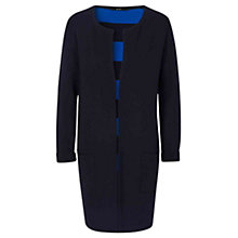 Buy Oui Longline Stripe Cardigan, Dark Blue Online at johnlewis.com