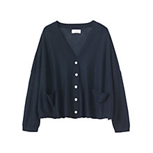 Buy Toast Fine Wool V-Neck Cardigan, Navy Online at johnlewis.com