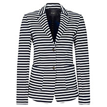 Buy Oui Striped Blazer, Blue/White Online at johnlewis.com