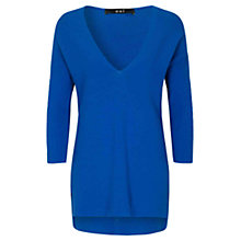 Buy Oui Longline Ribbed Jumper, Nautical Blue Online at johnlewis.com