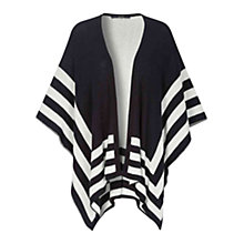 Buy Oui Striped Poncho, Dark Blue/White Online at johnlewis.com
