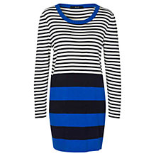 Buy Oui Striped Tunic Dress, Dark Blue Online at johnlewis.com