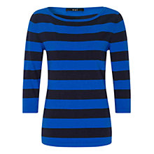 Buy Oui Striped Jumper, Dark Blue Online at johnlewis.com
