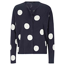 Buy Oui Large Spot Cardigan, Blue/White Online at johnlewis.com