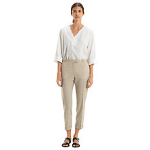 Buy Nicole Farhi Burges Wool-Blend Trousers, Beige Online at johnlewis.com