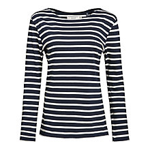 Buy Seasalt Sailor Jersey Top, Orca/Ecru Online at johnlewis.com